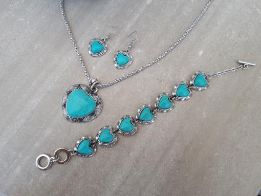 סט תכשיטים טורקיז מתנה לאשה. תכשיטים אנרגטיים מתנה לאשה