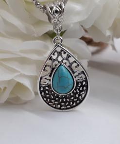 תליון טורקיז כסף מתנה לאשה. תכשיטים אנרגטיים מתנה לאשה