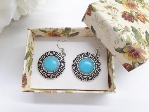 מתנה לאישה עגילים מהודרים טורקיז