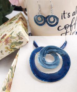 שרשרת ספירלה כחול