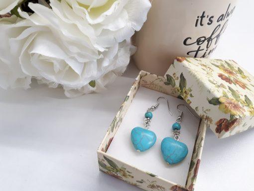 עגילי טורקיז מתנה לאשה מתנה ליום הולדת
