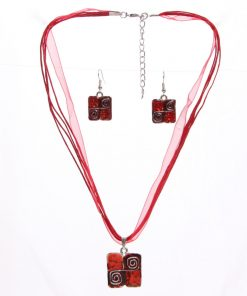 סט תכשיטים מכסף מתנה לאישה לחג האהבה