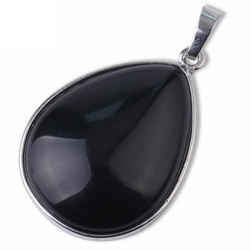 תליון אבן טורמלין שחורה