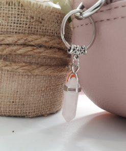 מחזיק מפתחות עם קריסט רוז קוורץ לקניה במחיר מיוחד