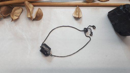 צמיד טורמלין שחור
