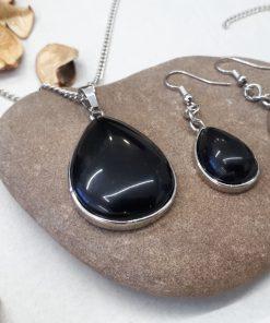 סט תכשיטים מאבני חן טורמלין